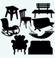 set furniture vector image vector image