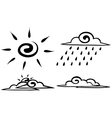 Sketch Set forecast icon vector image vector image