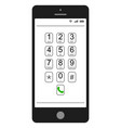smartphone mobile phone dialer features vector image vector image