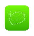 soap icon green vector image vector image