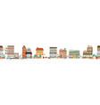 urban landscape or view european city street vector image vector image