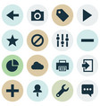 user icons set with log in print play and other vector image