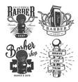 vintage barbershop prints vector image vector image