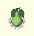 vintage pear label vector image vector image