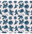 Vintage white and blue floral seamless pattern vector image