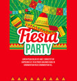 vivid poster ethnic party promotion vector image vector image