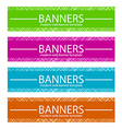 Web Banners Template in Four Colors vector image