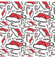 winter holidays seamless pattern christmas symbols vector image