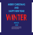 winter sale banner flyer christmas sale banner vector image vector image