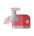 Retro meat grinder front view vector image