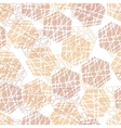 Abstract mosaic hexagon texture vector image
