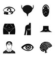 anatomy icons set simple style vector image vector image