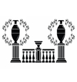 Architectural decorative columns vector image vector image