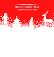 banner x mas red vector image vector image