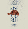 baseball typographic stencil splash grunge poster vector image vector image