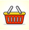 basket design icon vector image