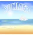 Beach and tropical sea with bright sun EPS10 vector image vector image
