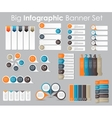 big set infographic banner templates for your vector image