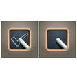 blackboard square icon vector image vector image