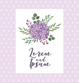 bouquet flowers wedding greeting card dotted vector image
