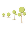 cartoon tree growth concept vector image