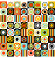 colorful background with dots circles and stripes vector image vector image
