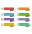 colorful infographic banner template ribbon white vector image