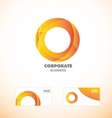 Corporate orange business circle logo icon vector image vector image
