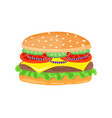 drawing of hamburger with cheese tomatoes chop vector image