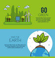 eco green energy infographic design vector image vector image