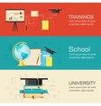 Education distance online and academic school vector image vector image