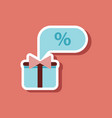 fashion patch sale sticker gift box discount vector image vector image