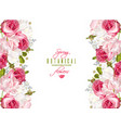 floral romantic banner vector image vector image