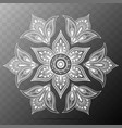 flower mandala oriental pattern vector image vector image