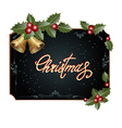 frame with Christmas decorations vector image vector image
