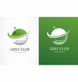 golf club icons symbols elements and logo vector image vector image