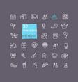 happy birthday party icon set vector image vector image