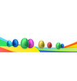 happy easter holiday celebration banner flyer vector image