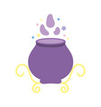 happy halloween celebration spell potion cauldron vector image vector image