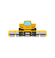 heavy agricultural machinery with rotary cutting vector image
