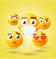 high quality emoticon 3d icon set emoji vector image vector image