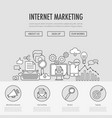 internet marketing landing vector image