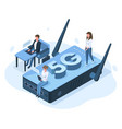 isometric 5g mobile internet network connection vector image vector image