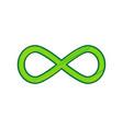 limitless symbol lemon vector image vector image
