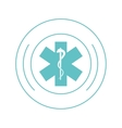 medical asclepius rod icon vector image