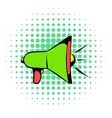 Megaphone icon comics style vector image vector image