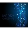 Merry Christmas blue greeting card with vector image vector image