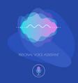 mobile app ui personal voice assistant concept vector image vector image