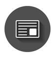newspaper flat icon news symbol logo on black vector image vector image