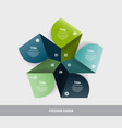 pentagon infographic template for diagram graph vector image vector image